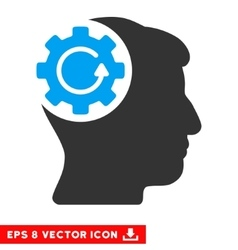 Intellect Gear Rotation Eps Icon vector