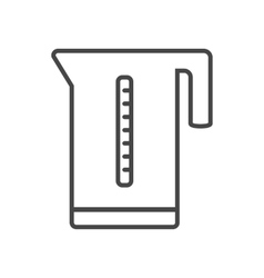 Kettle icon outline vector