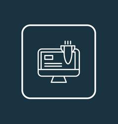 landing page icon line symbol premium quality vector image