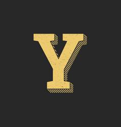 logo letter y gold vintage vector image