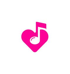 Love music logo icon design vector