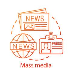 Mass media concept icon news agency press vector