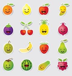 Mixed Fruits Character Cartoon vector image