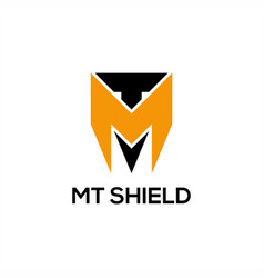mt shield logo vector image