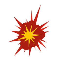 nucleate explosion icon isolated vector image