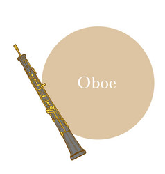 oboe in hand drawn style vector image