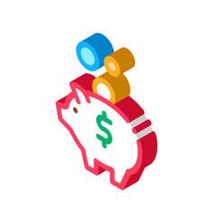 pig money box isometric icon vector image