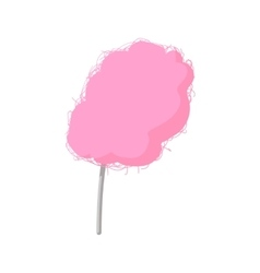 Pink candy floss cartoon icon vector