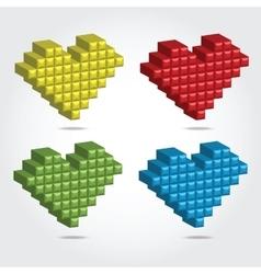 Pixel 3D for Design vector image