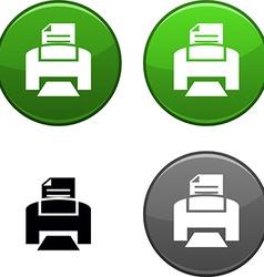 Print button vector