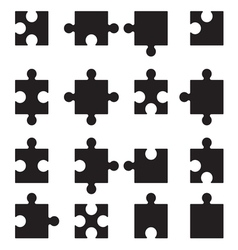 Puzzle set2 vector image