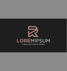 R line logo design inspiration vector