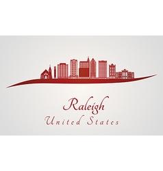 Raleigh V2 skyline in red vector