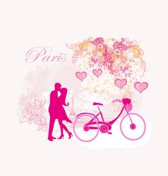 Romantic postcard from paris vector