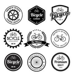 Set bicycle retro vintage badges and labels vector