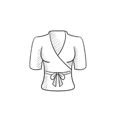 Short female bathrobe sketch icon vector image