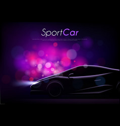 Sport car bokeh background vector