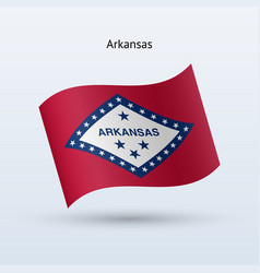 State of arkansas flag waving form vector