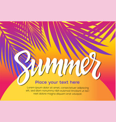 summer - leaflet template with brush vector image