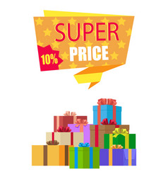 Super price 10 off special exclusive offer on new vector
