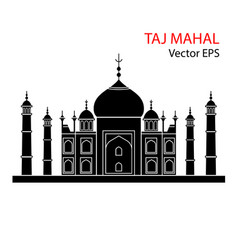 Taj mahal india flat vector