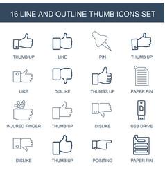 thumb icons vector image