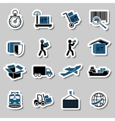 transportation services stickers collection vector image