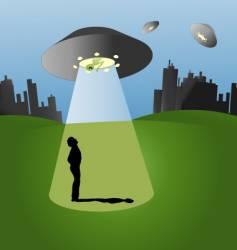 Ufo scene vector