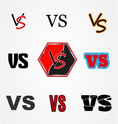 Versus logo vs letters vector