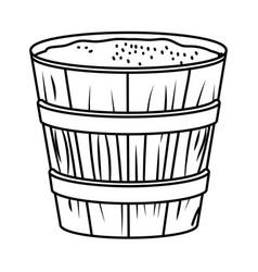 Wooden jar cartoon vector