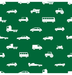 simple cars black silhouettes icons pattern eps10 vector image vector image
