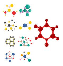 colorful molecular structures in the form of vector image