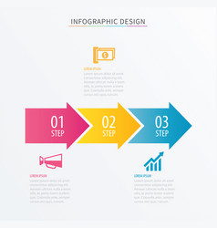 infographics arrow number 3 step template vector image vector image