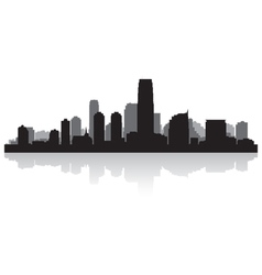 Jersey city USA skyline silhouette vector image vector image