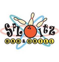 Retro Bowling Alley Signs vector image vector image