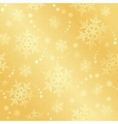 golden snow flake winter pattern vector image vector image