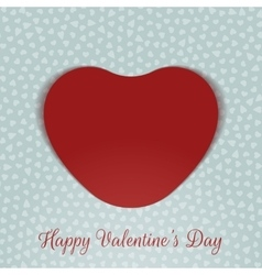 Valentines Day realistic red Card Heart vector image vector image