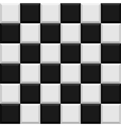 Black and white tiles seamless pattern vector image vector image