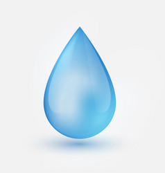 blue shiny single water drop isolated vector image