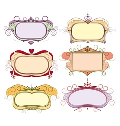 set of multi colored frame vector image vector image