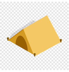 tent for tourists isometric icon vector image