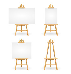 wooden easel or painter desk vector image vector image
