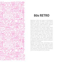 80s retro line pattern concept vector image