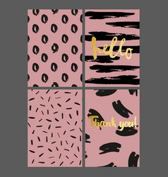 a set of greeting cards with brush strokes on a vector image