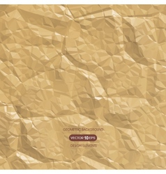 Abstract background of crumpled paper vector