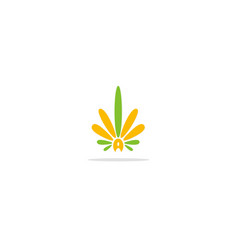 abstract cannabis leaf logo vector image
