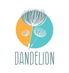 Abstract fluffy dandelion flower logo vector image