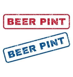 Beer Pint Rubber Stamps vector image