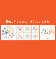 best professional infographic semicircle of vector image