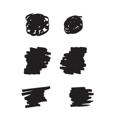 Black brush template design vector